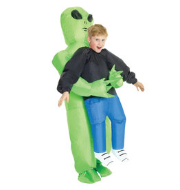 Inflatable Alien Pick-Up Costume - Boys
