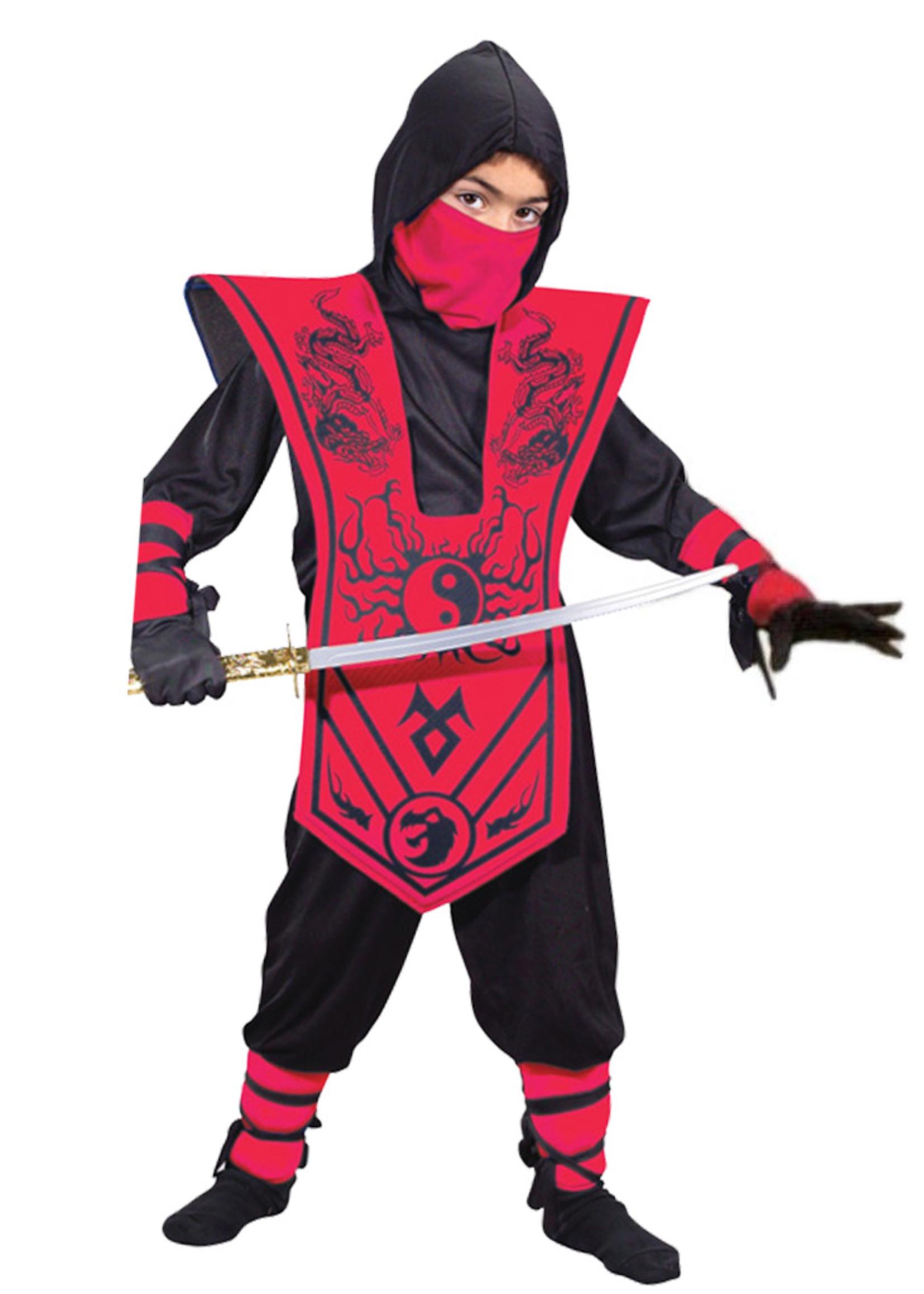 Complete Ninja Red Costume - Boys