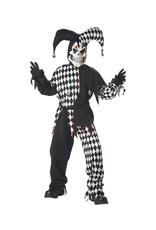 Evil Jester - Black/White Costume - Boys