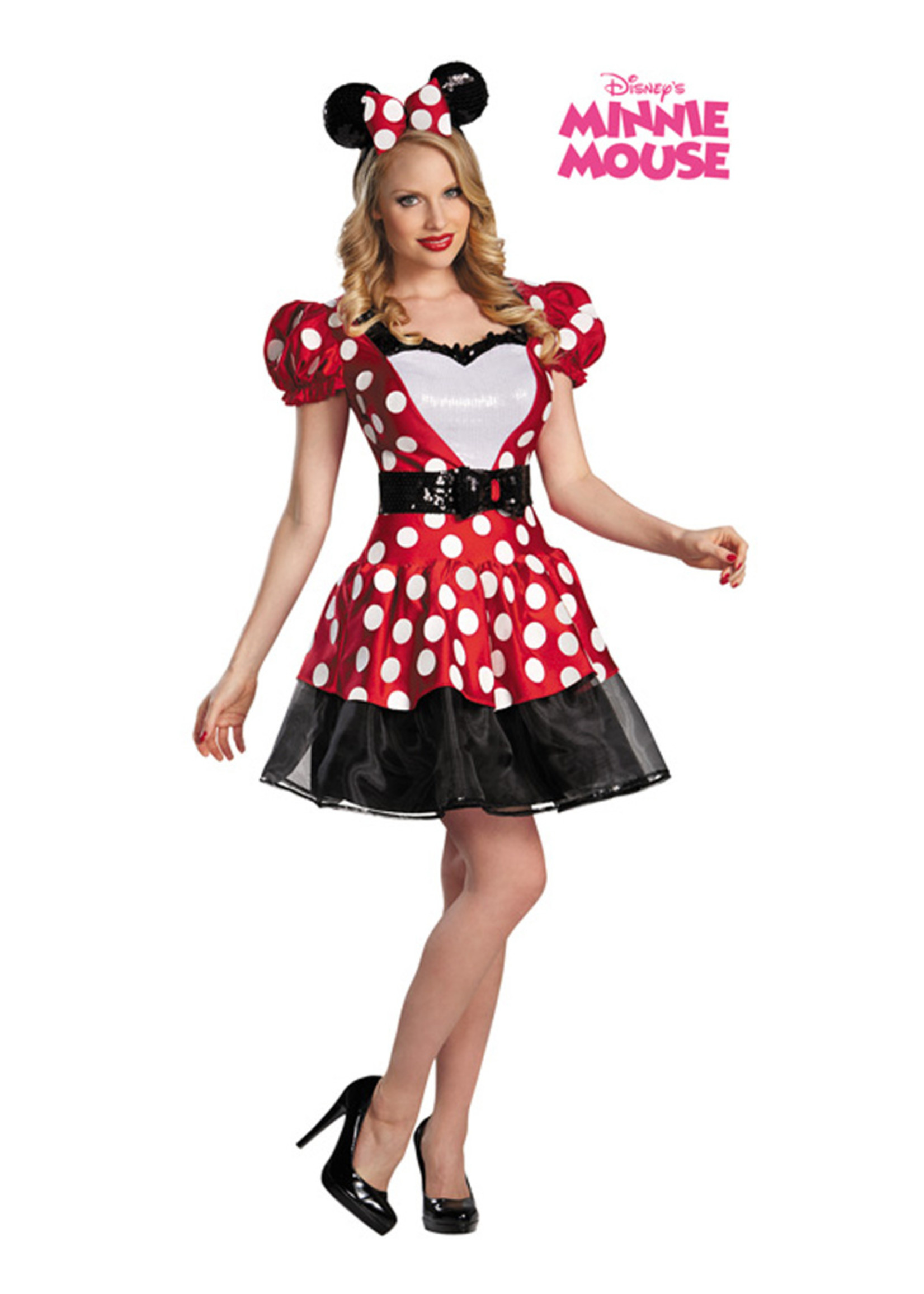 Glam Red Minnie Costume - Women's