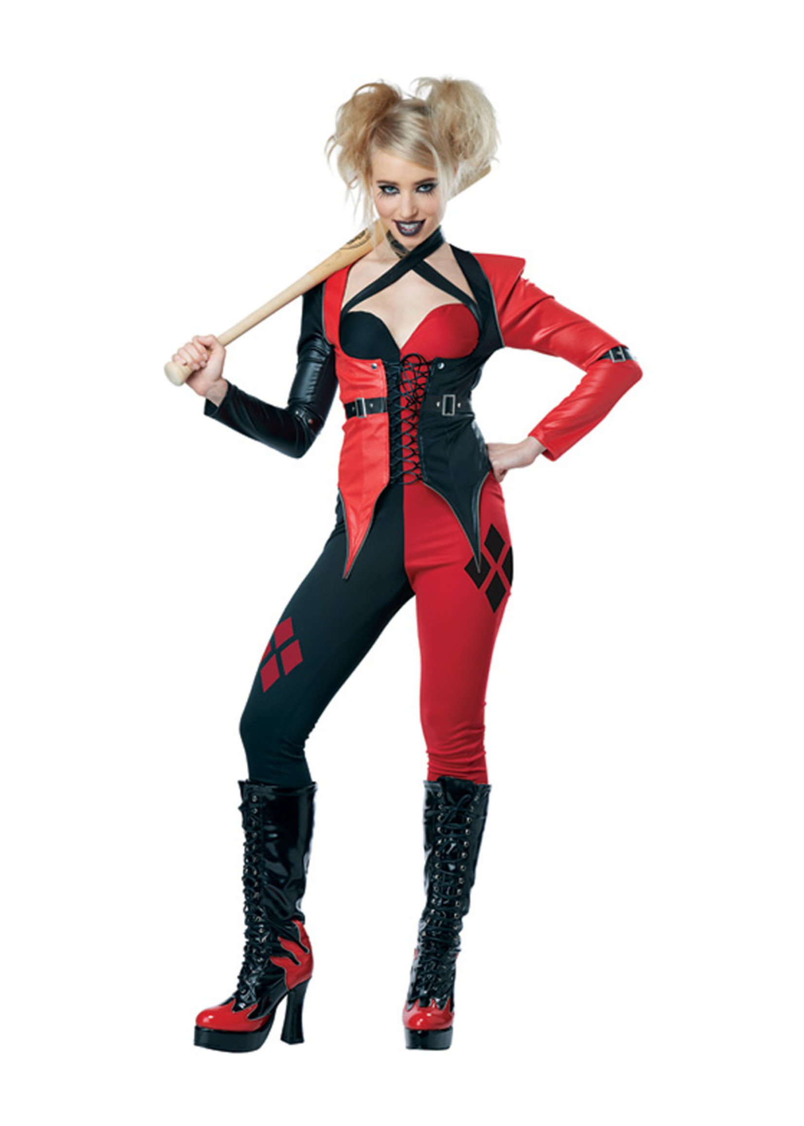 Psycho Jester Chick Costume - Women's