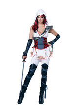 Sexy White Ninja Costume - Women's