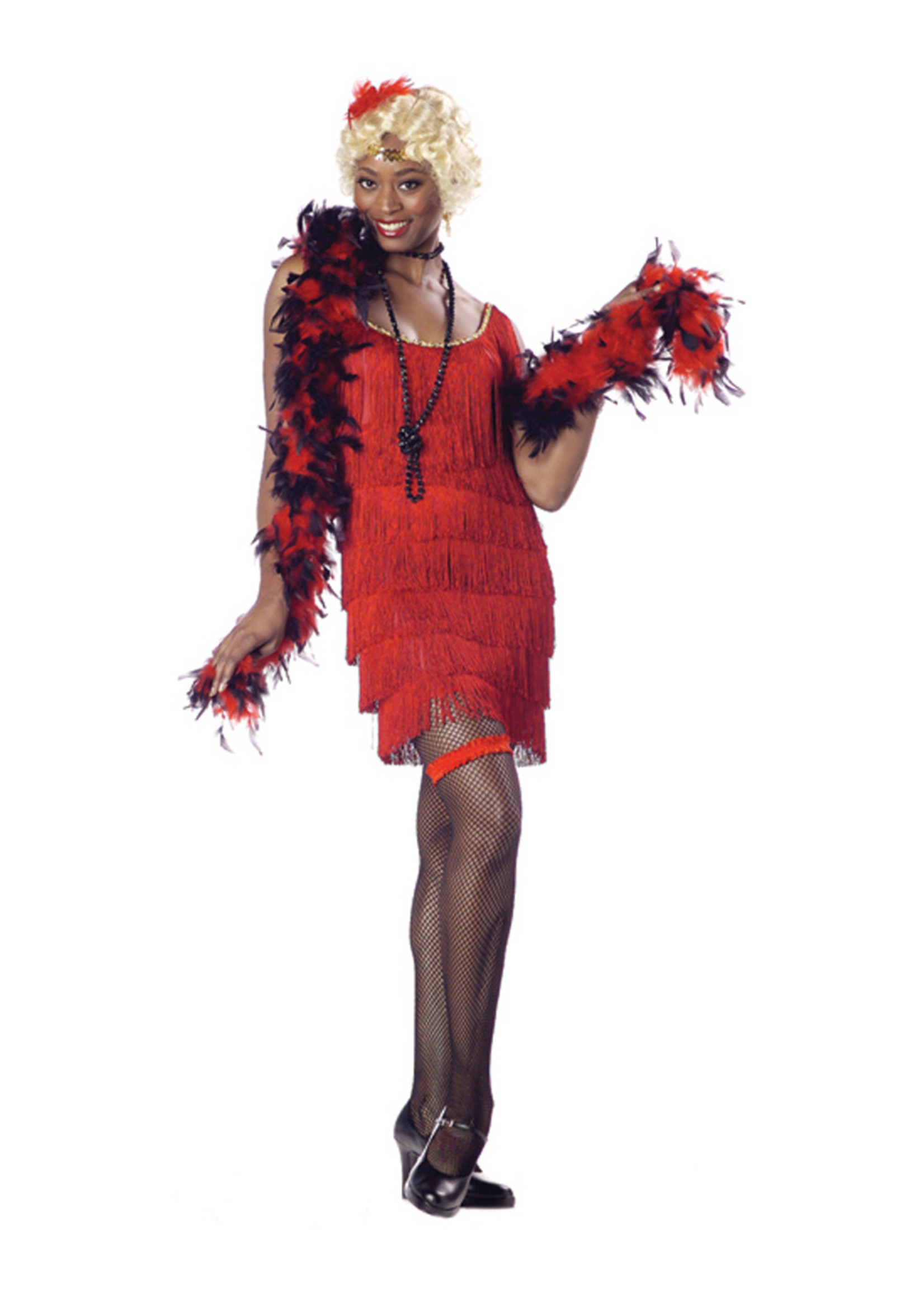 Flapper - Red Costume - Women's
