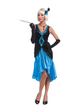 Betty Blue Flapper Costume - Women's