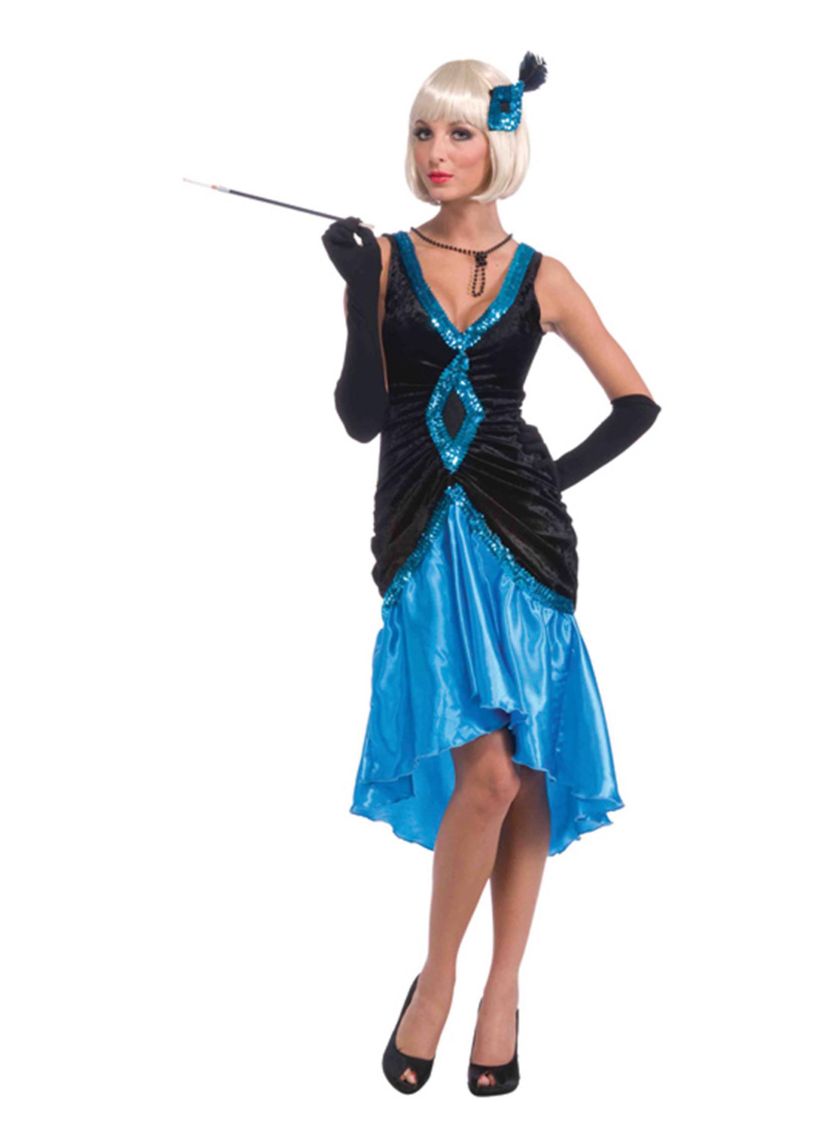 Betty Blue Flapper Costume - Women's