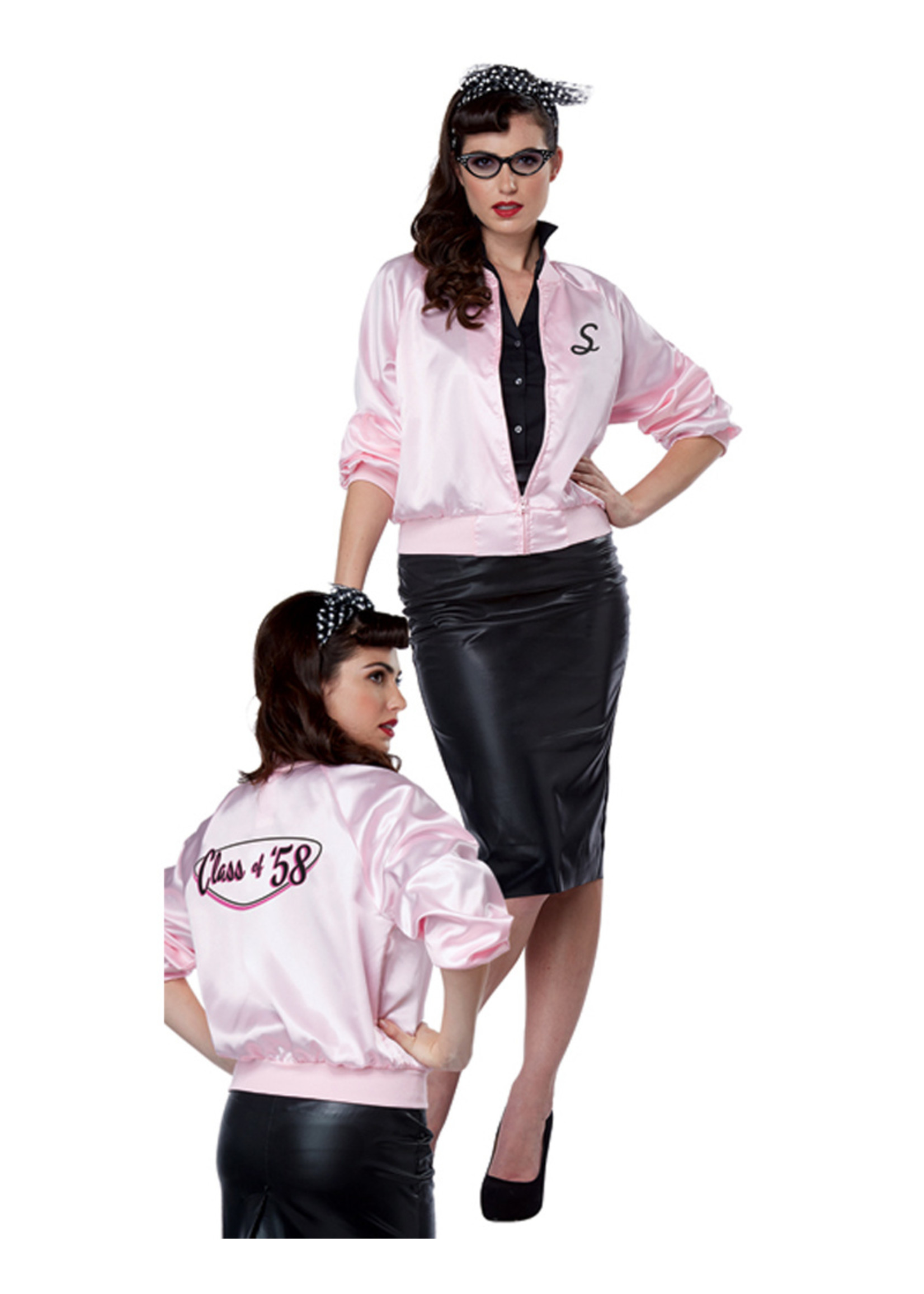 50's Satin Varsity Jacket - Women's