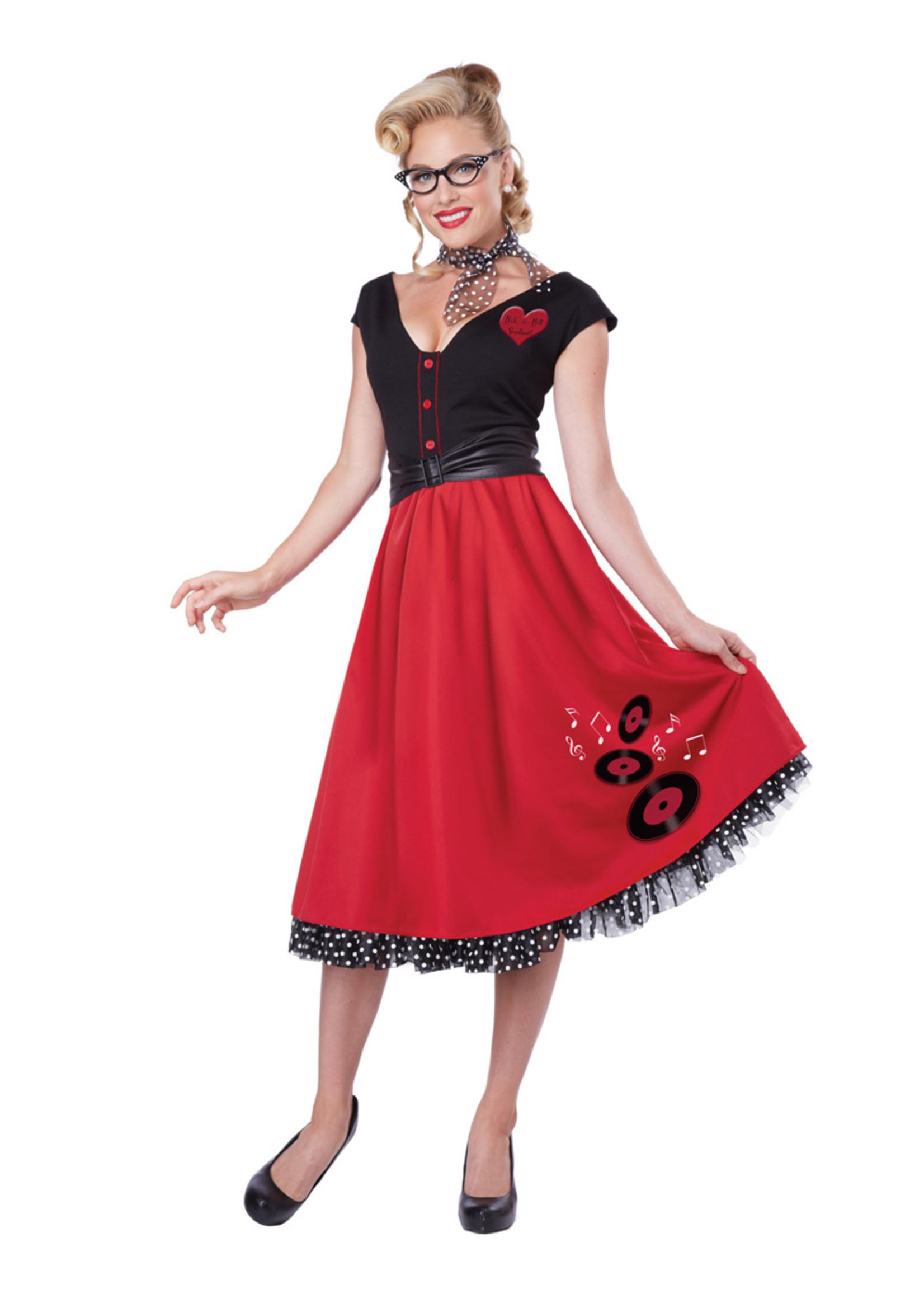 Rock 'n' Roll Sweetheart Costume - Women's