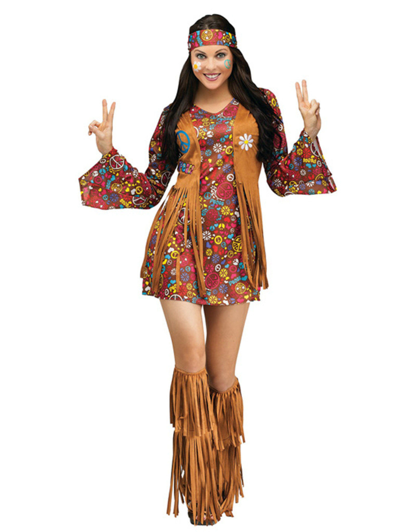 FUN WORLD Peace & Love Hippie Costume - Women's