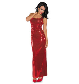 UNDERWRAPS Red Sequin Long Dress Costume - Women's