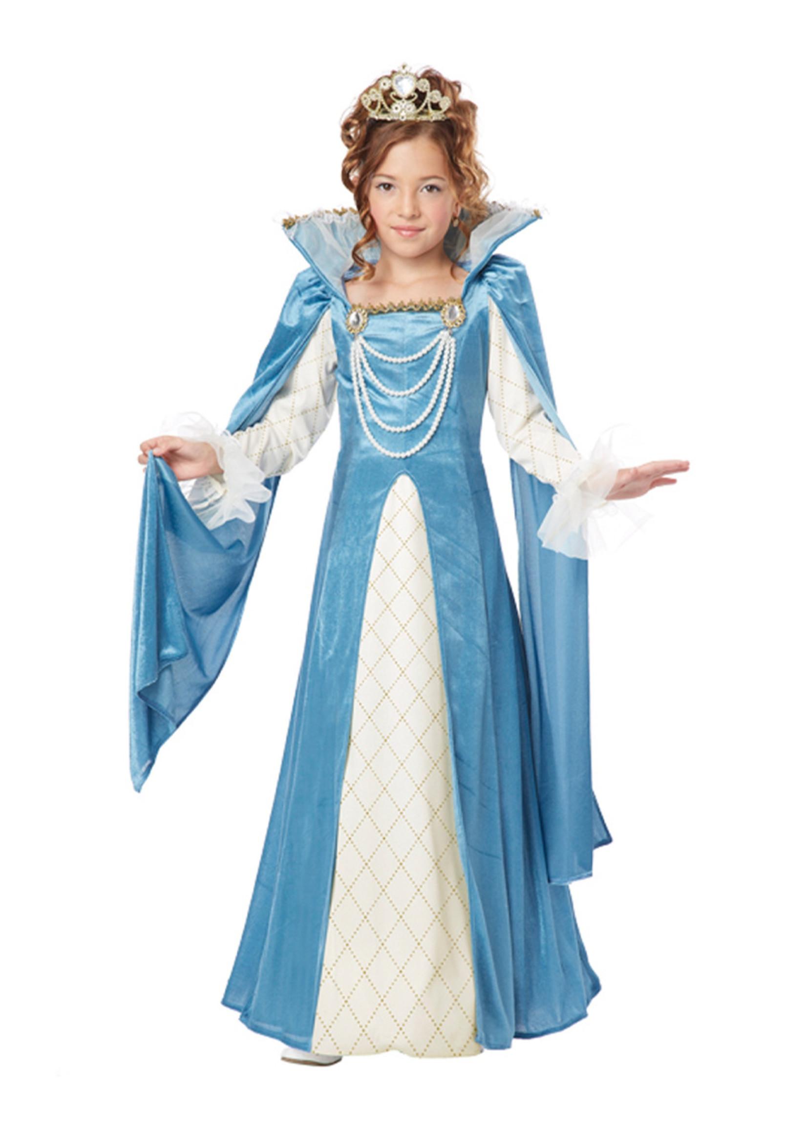 Renaissance Queen Costume - Girls