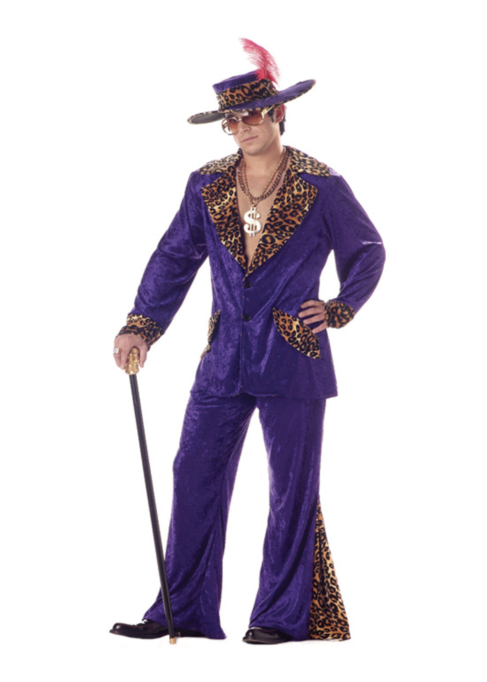 Pimp - Purple Costume - Men's