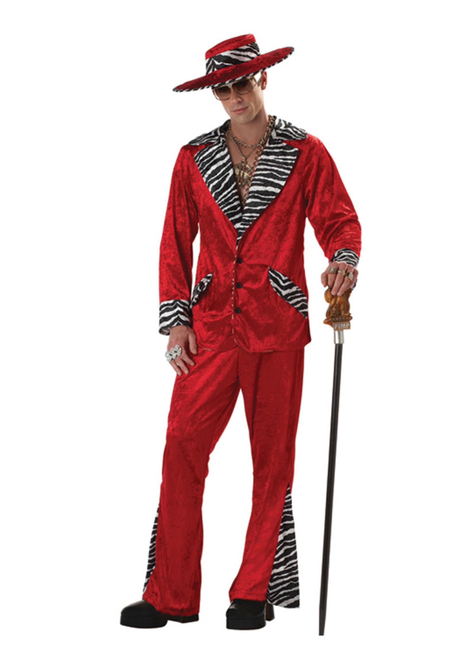 Pimp - Red Costume - Men's