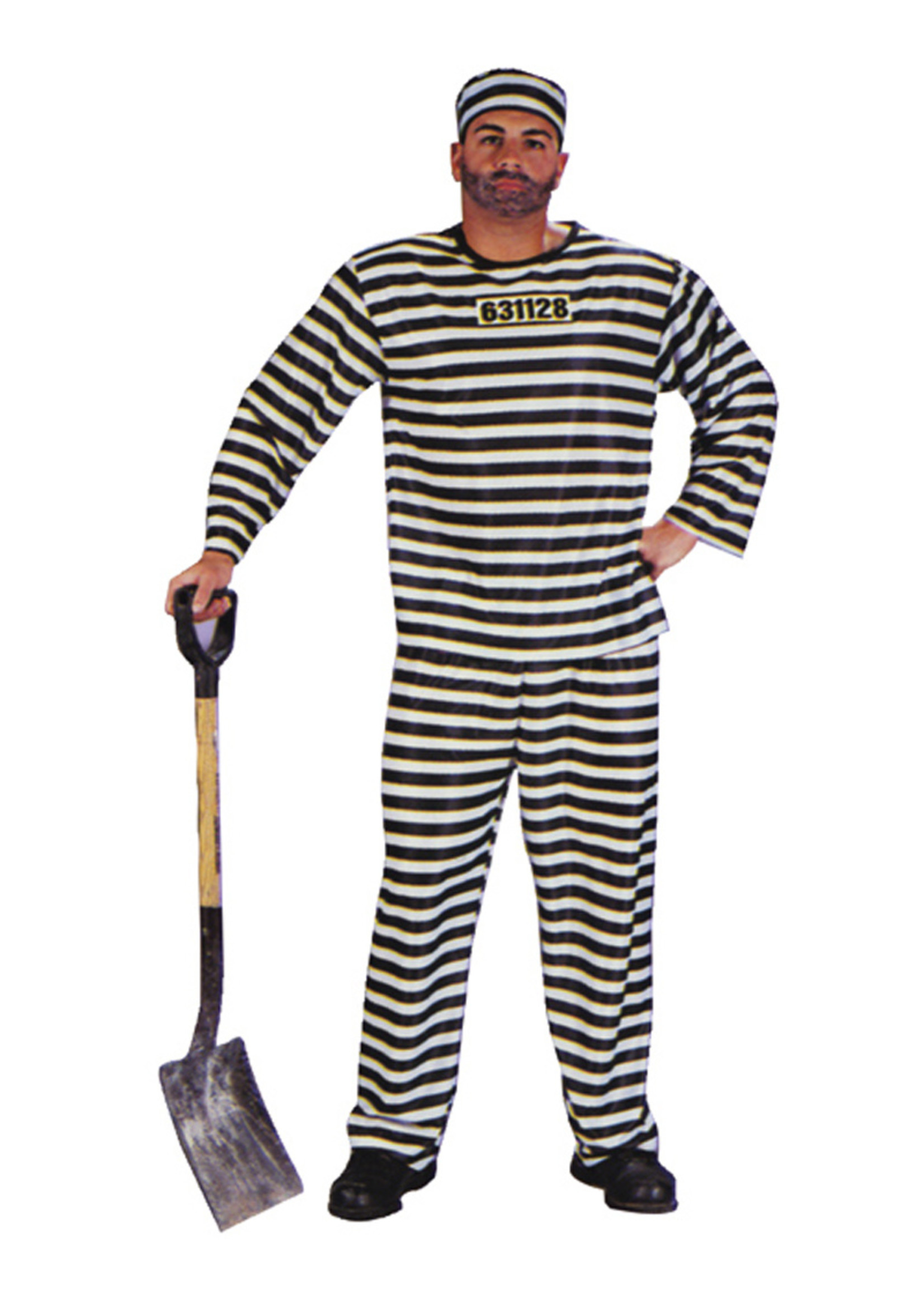 Jailbird Costume - Men's