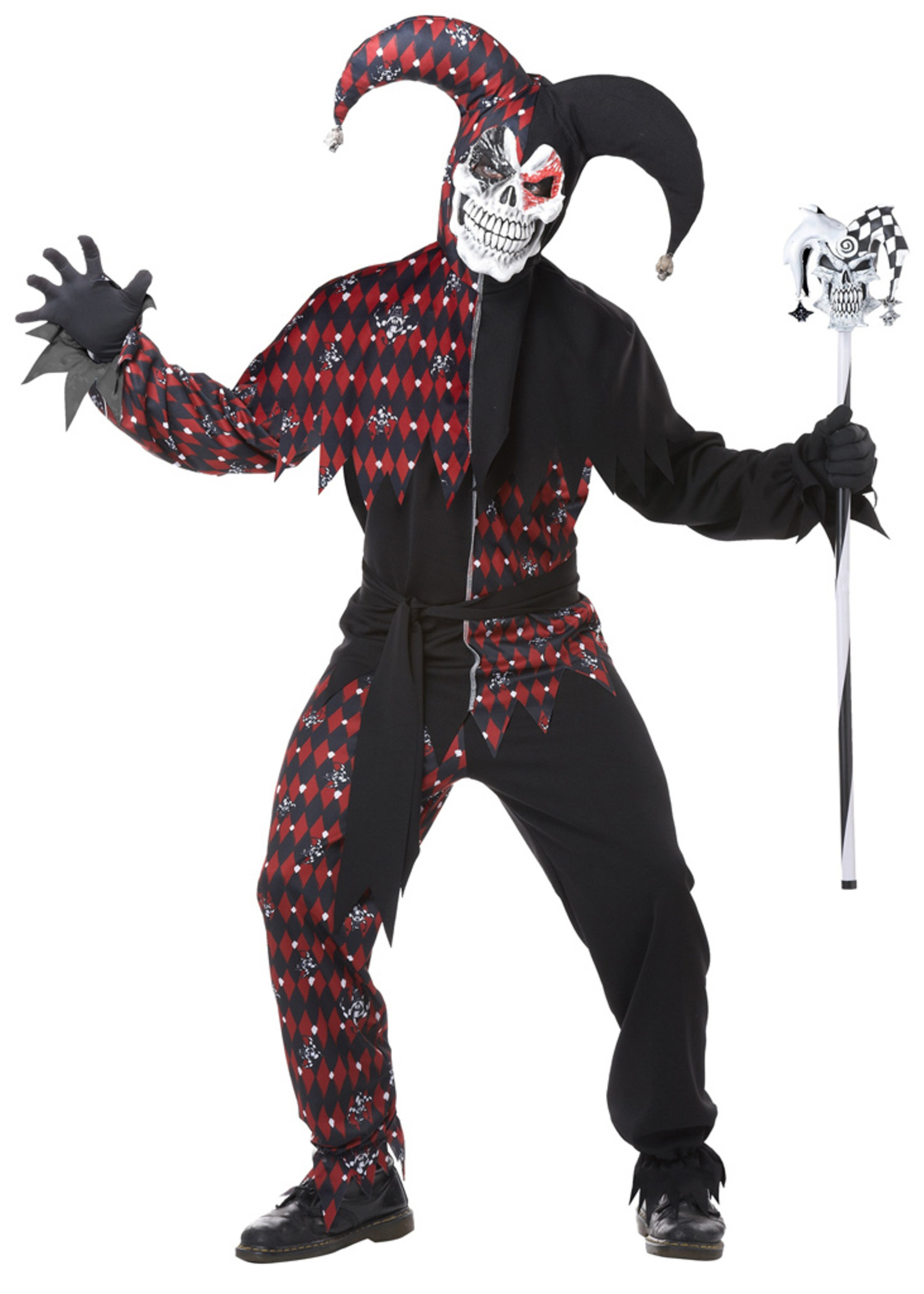 Sinister Jester Costume - Men's