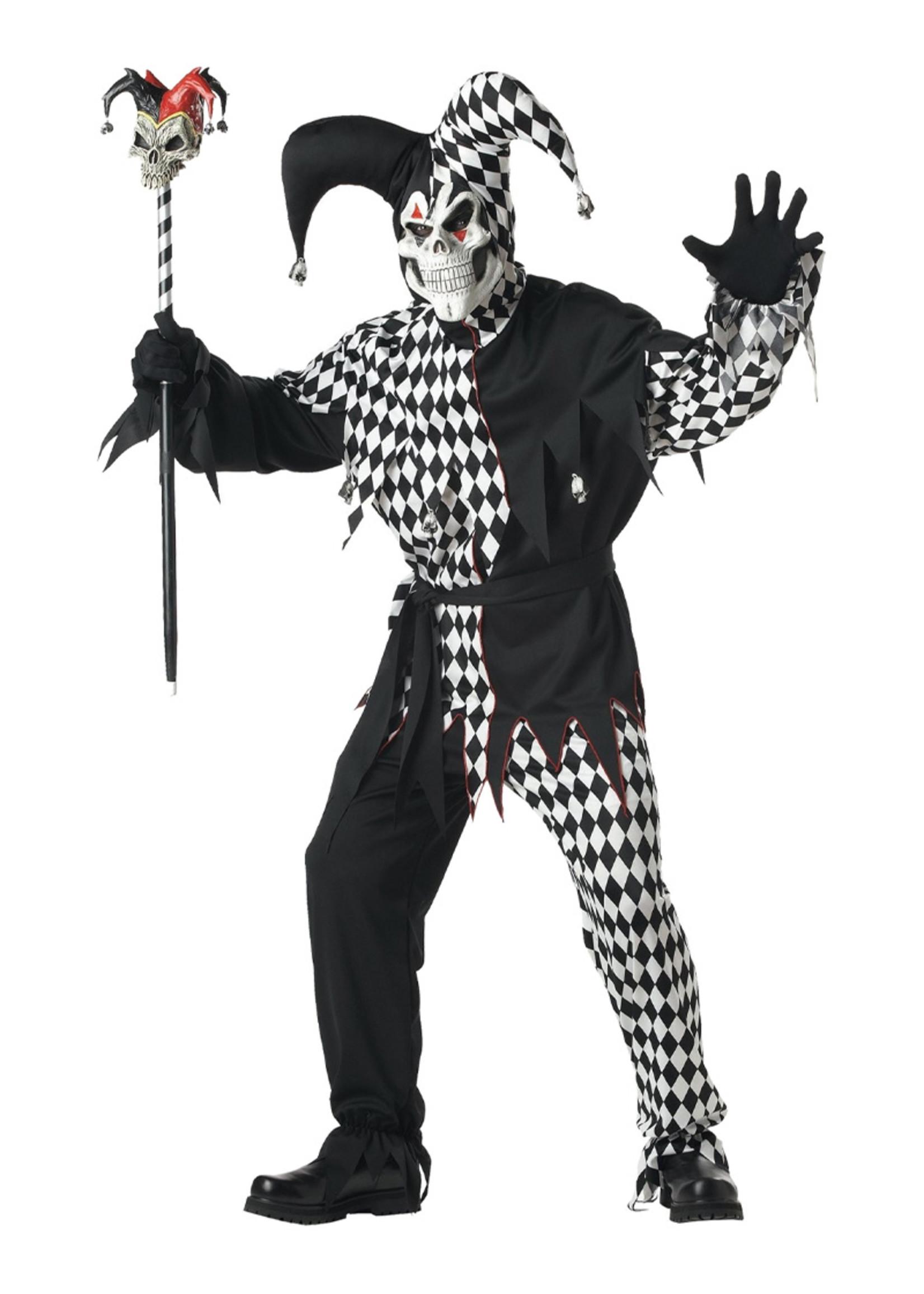 Evil Jester Costume - Men's