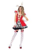 Tick Tock White Rabbit Costume - Women's