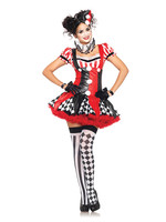 LEG AVENUE Harlequin Clown Costume - Women's