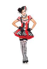 LEG AVENUE Harlequin Clown Costume - Women's