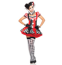 Harlequin Clown Costume - Women's