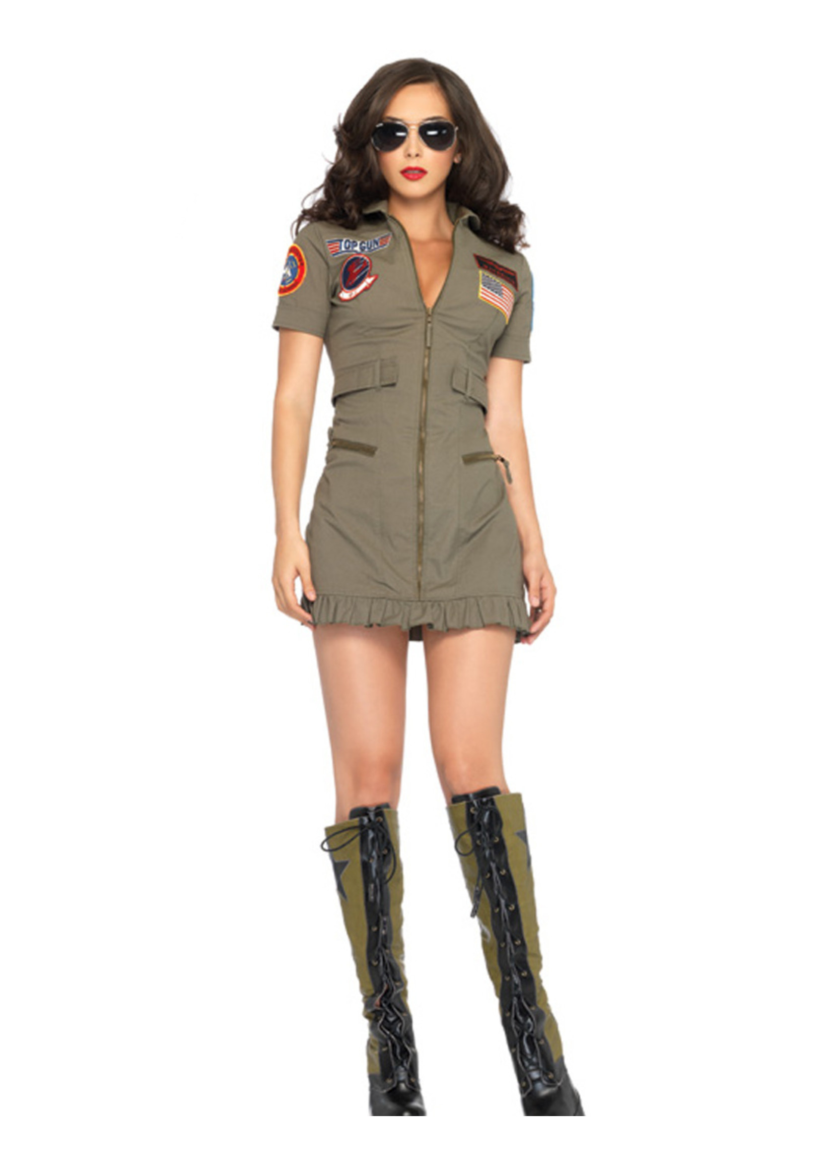 Top Gun Woman Costume - Women's
