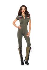 Top Gun Jumpsuit Costume - Women's