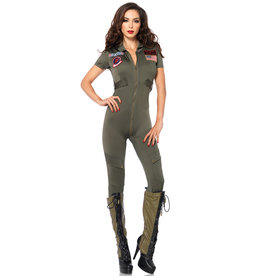 Top Gun Jumpsuit Costume - Women's