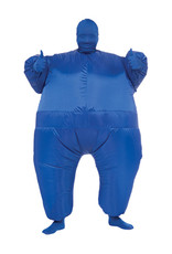 Inflatable Blue Suit Costume - Humor