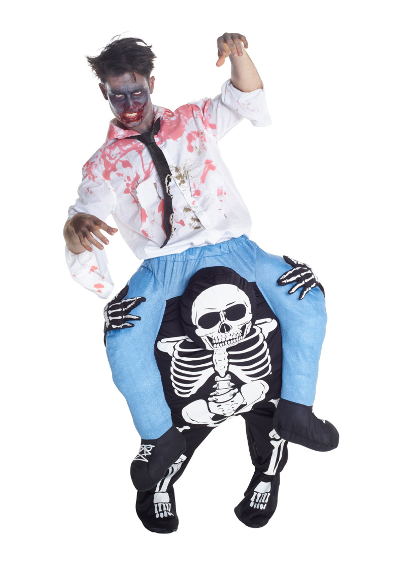 Skeleton Piggyback Costume - Humor