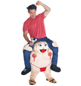 Fat Stripper Piggyback Costume - Humor