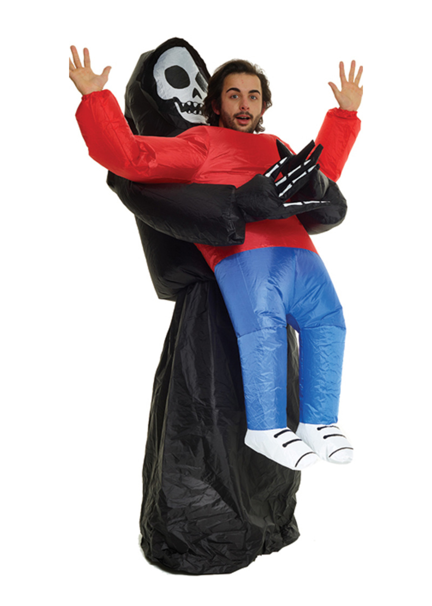 Inflatable Grim Reaper Pick-Up Costume - Humor