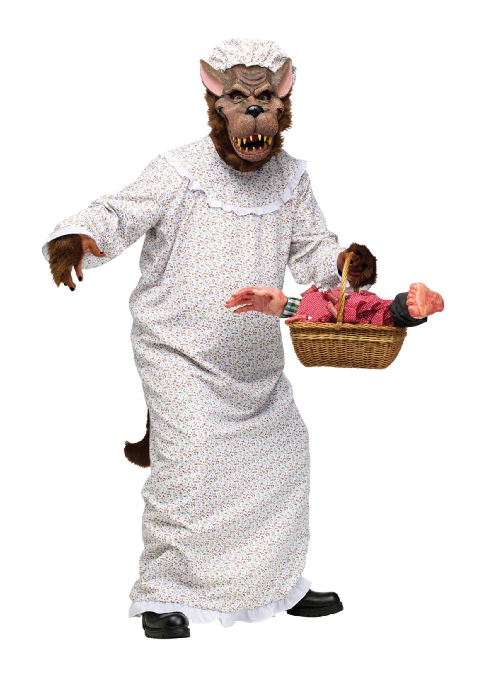 Big Bad Granny Wolf Costume - Humor