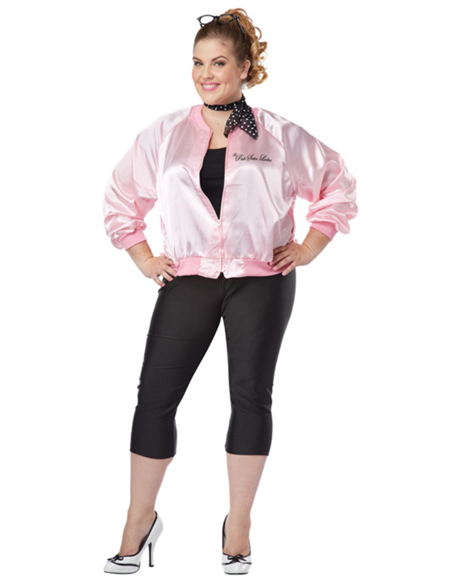 The Pink Satin  Ladies Jacket Costume - Women Plus