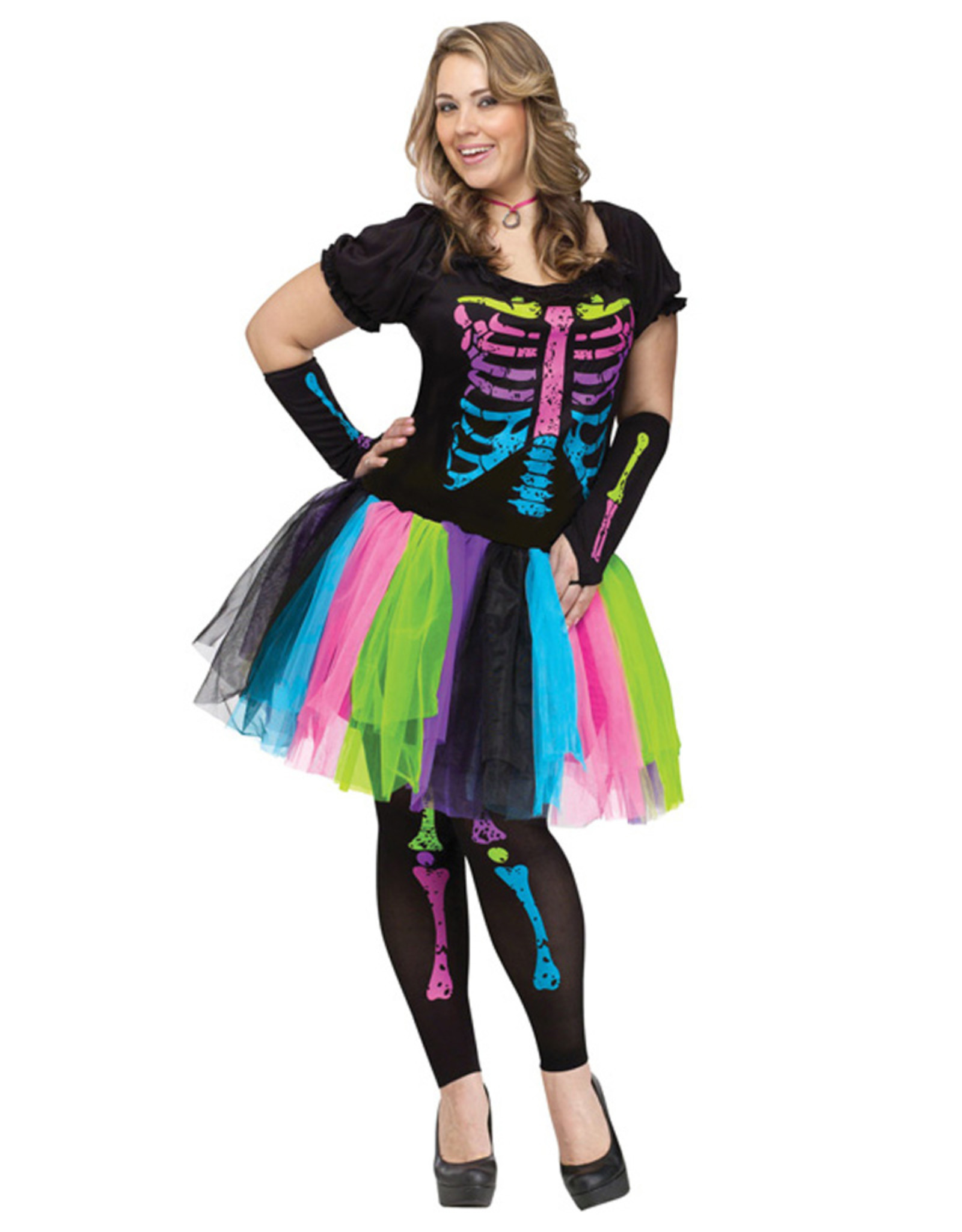 FUN WORLD Funky Punk Bones Costume - Women Plus