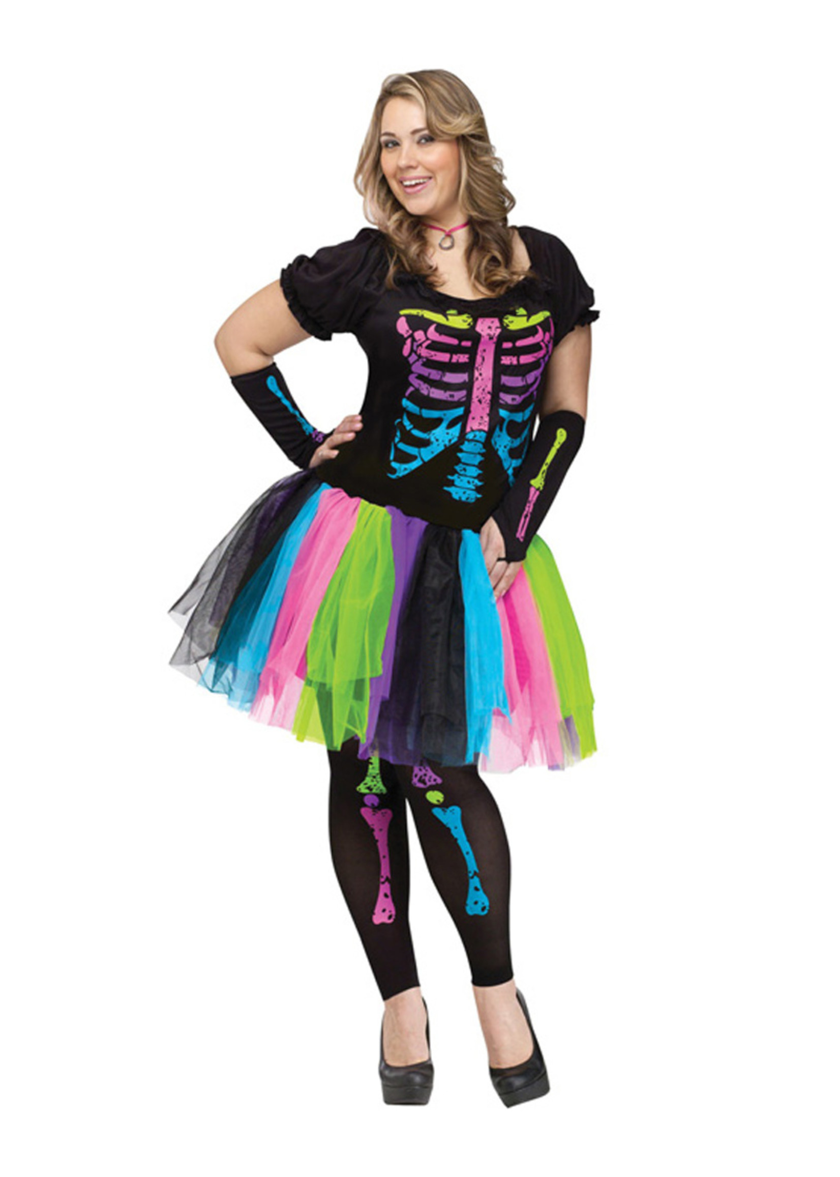 FUN WORLD Funky Punk Bones Costume - Women Plus