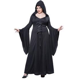Black  Hooded Robe - Women Plus