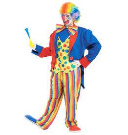 Clown Tuxedo Costume - Men's Plus