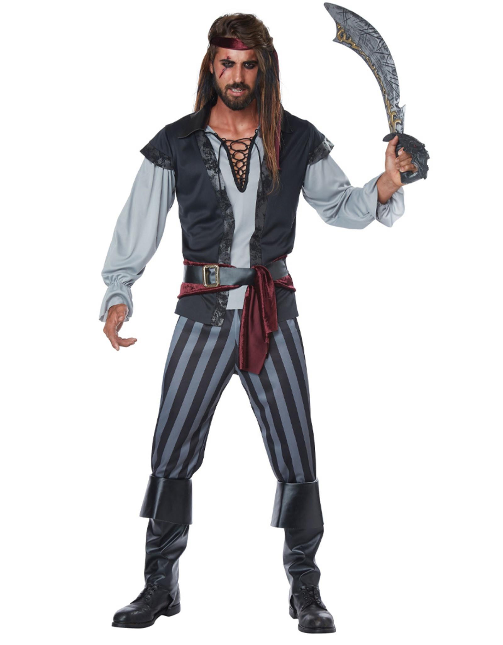 Scallywag Pirate Costume - Men's Plus