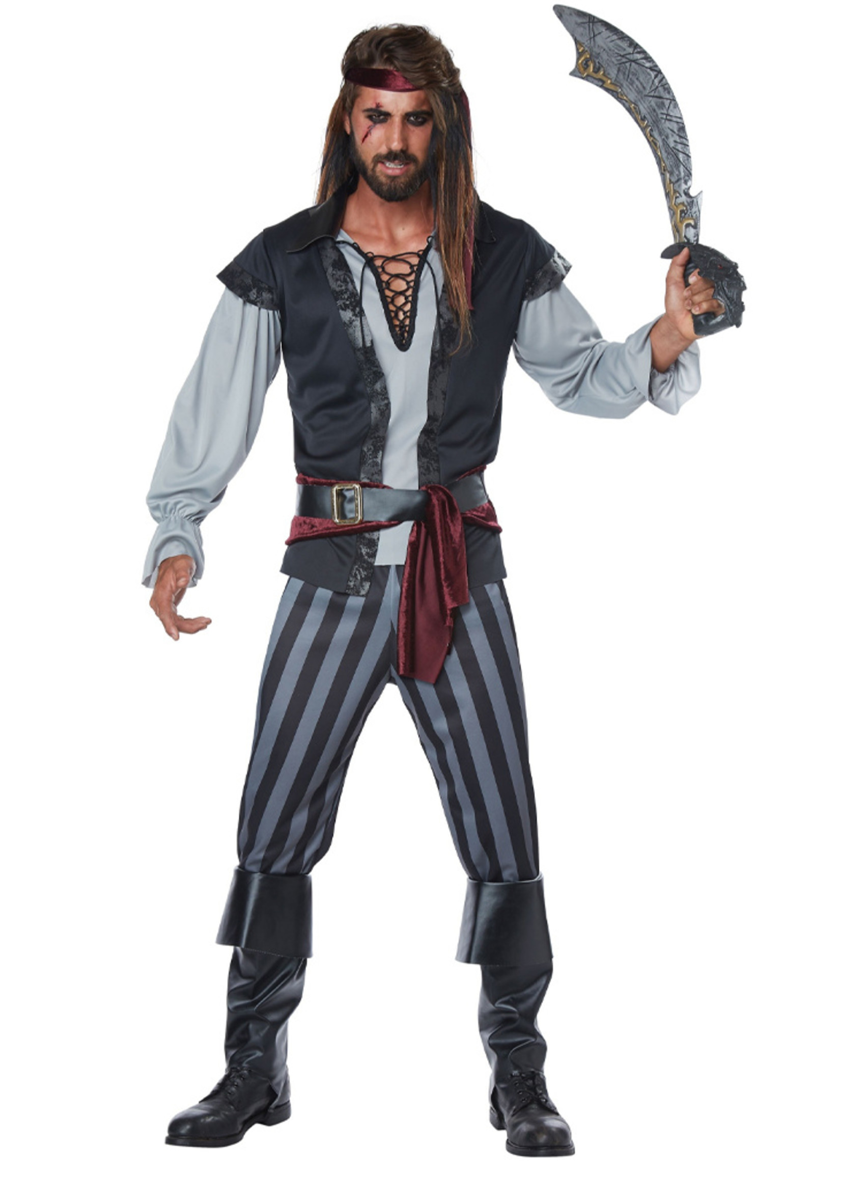 Scallywag Pirate Costume - Men's Plus