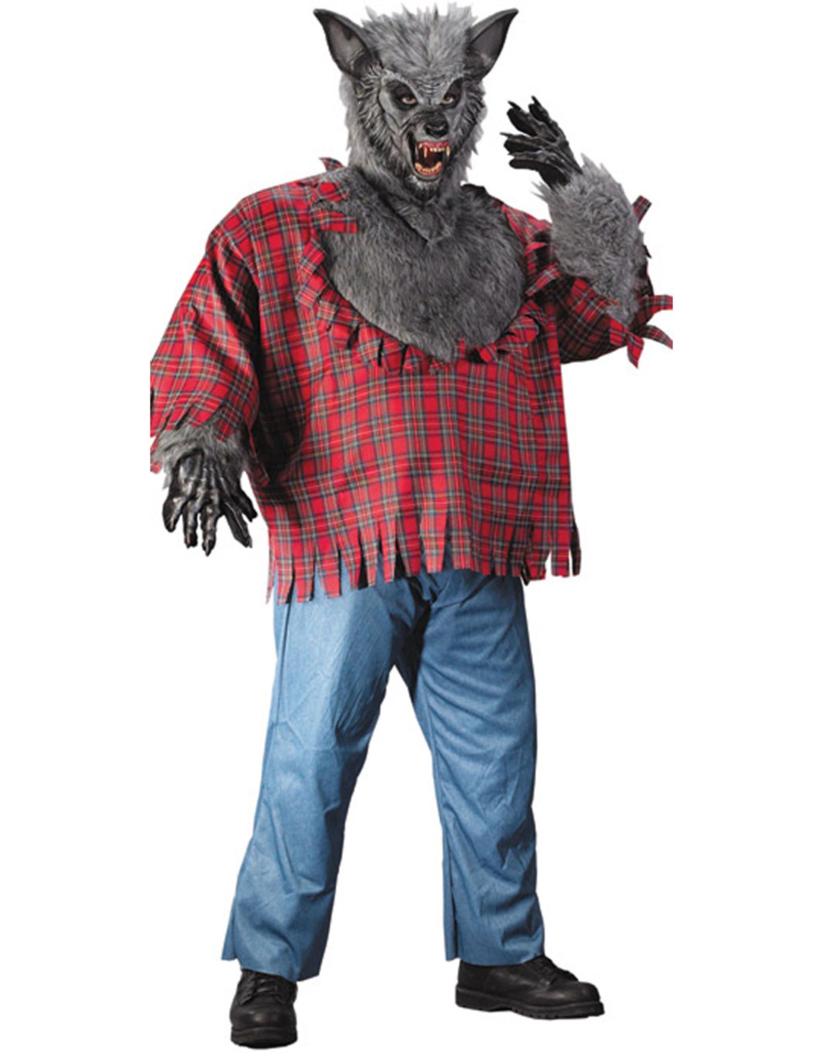 Werewolf Grey Costume - Men's Plus