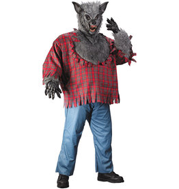 Werewolf Grey Costume - Men's Plus
