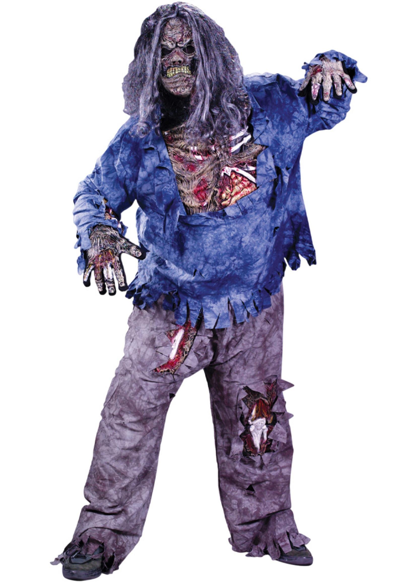 Zombie Costume - Men's Plus