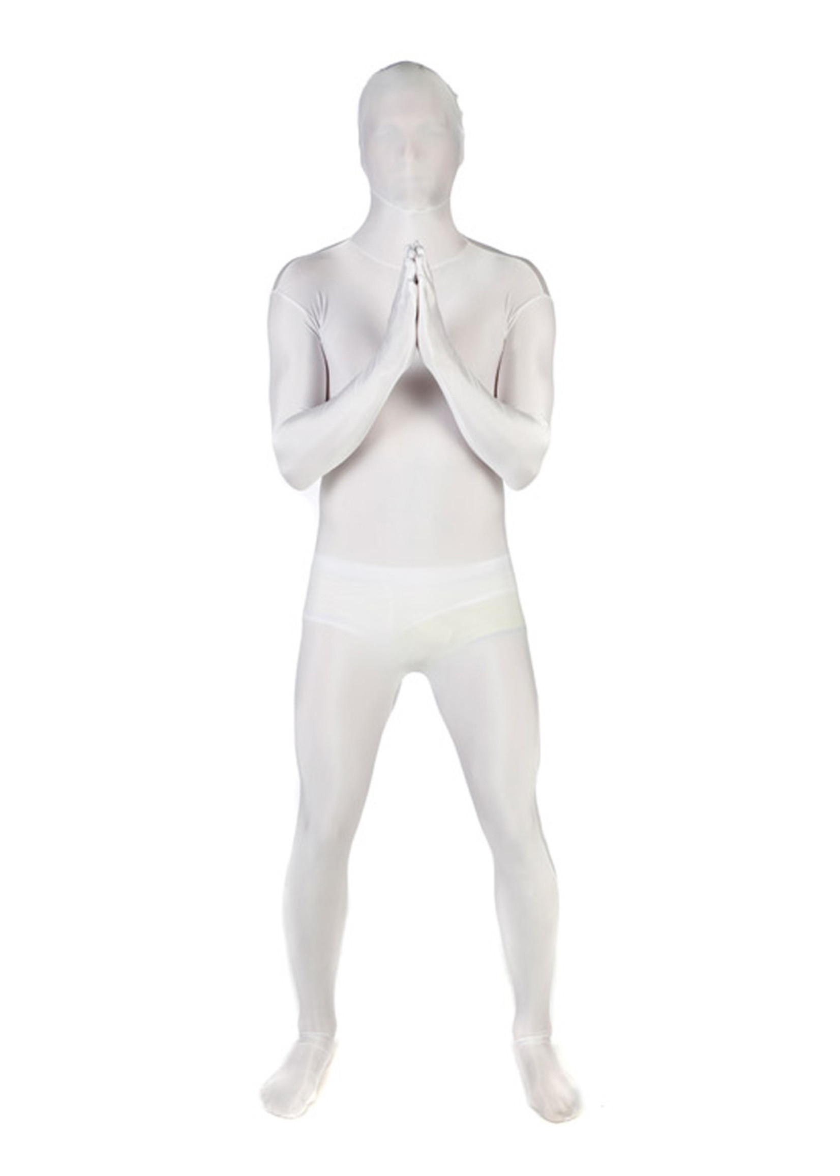 White Morphsuit Costume - Men's
