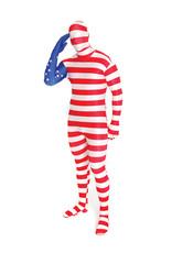 USA Flag Morphsuit Costume - Men's