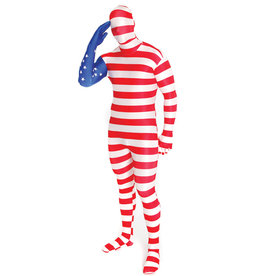 USA Flag Morphsuit Costume - Men's