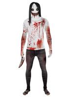 Jeff the Killer Morphsuit Costume - Men's