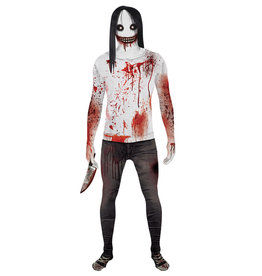Jeff the Killer Morphsuit Costume - Men's