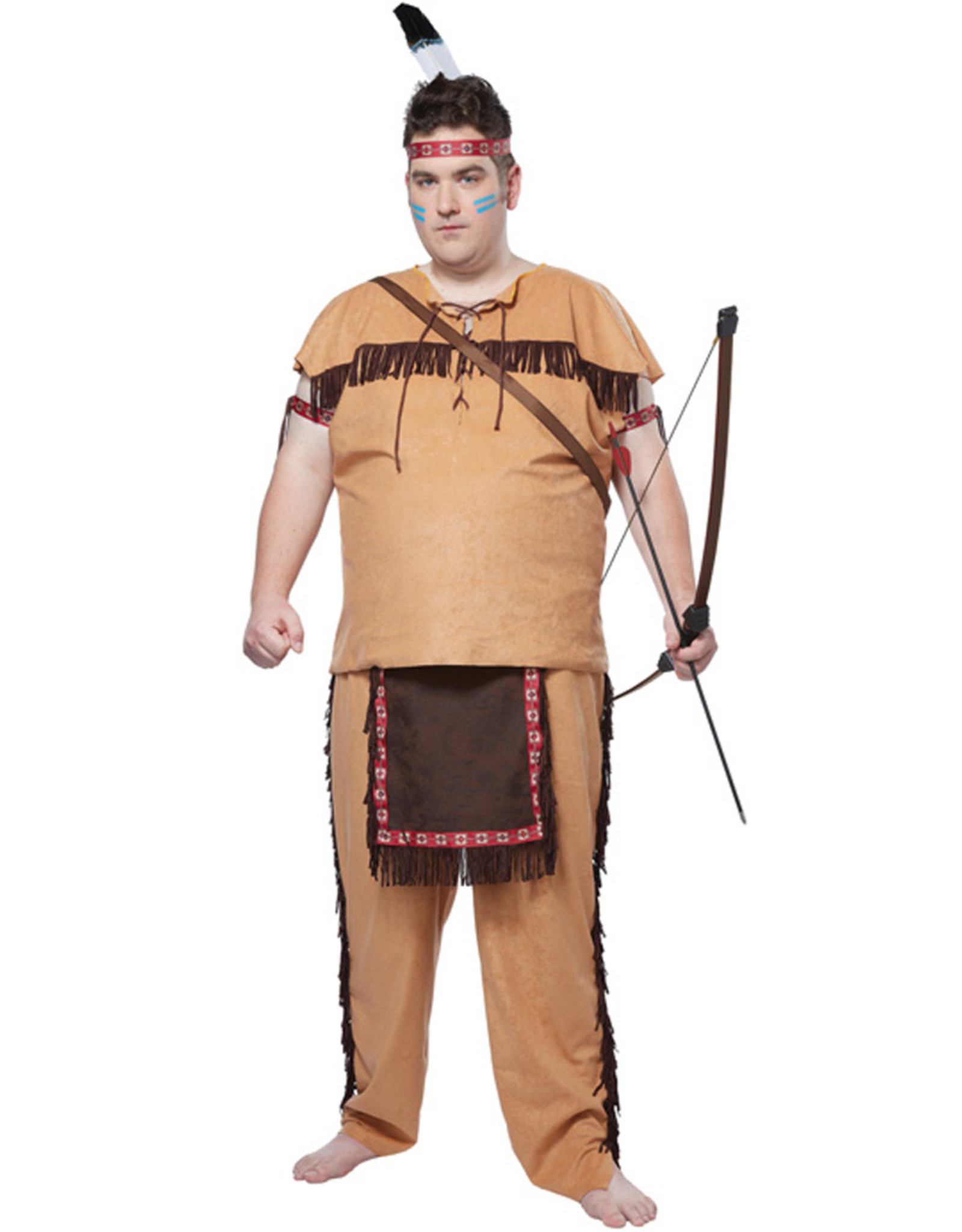 Native American Brave Costume - Men's Plus