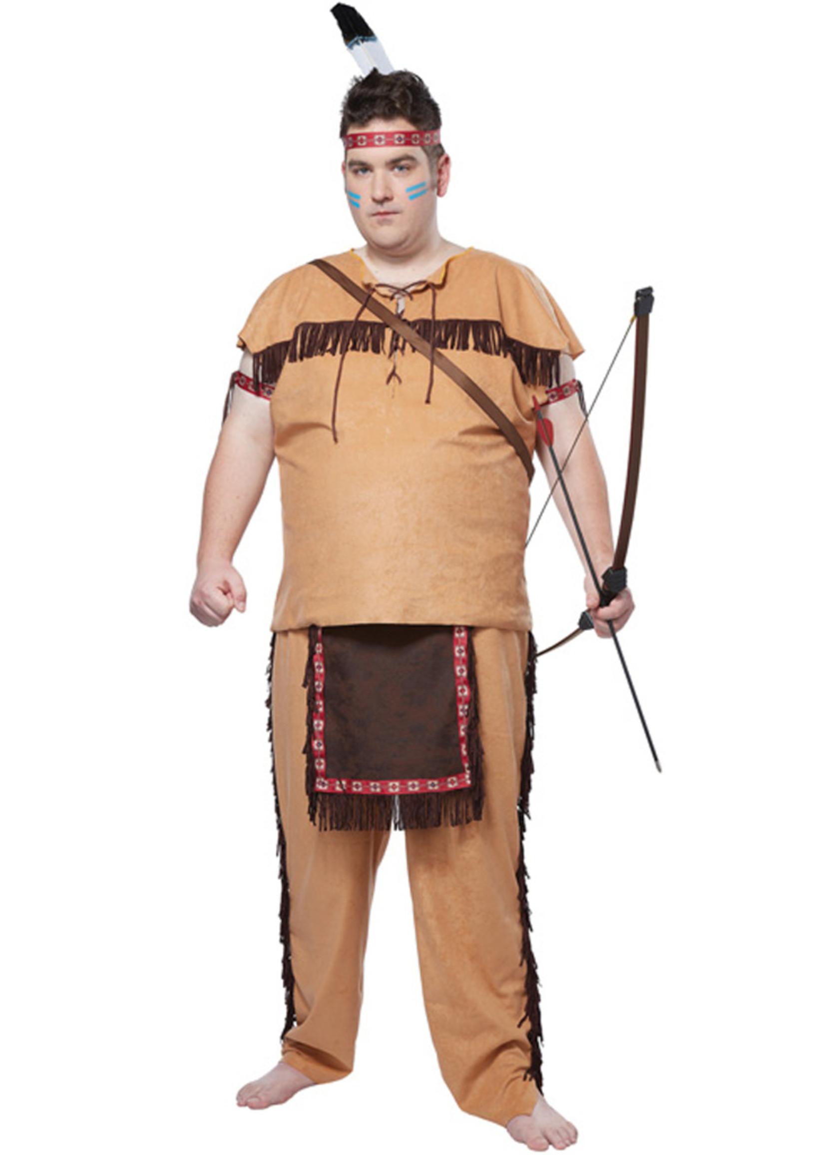 Native American Brave Costume - Men's Plus