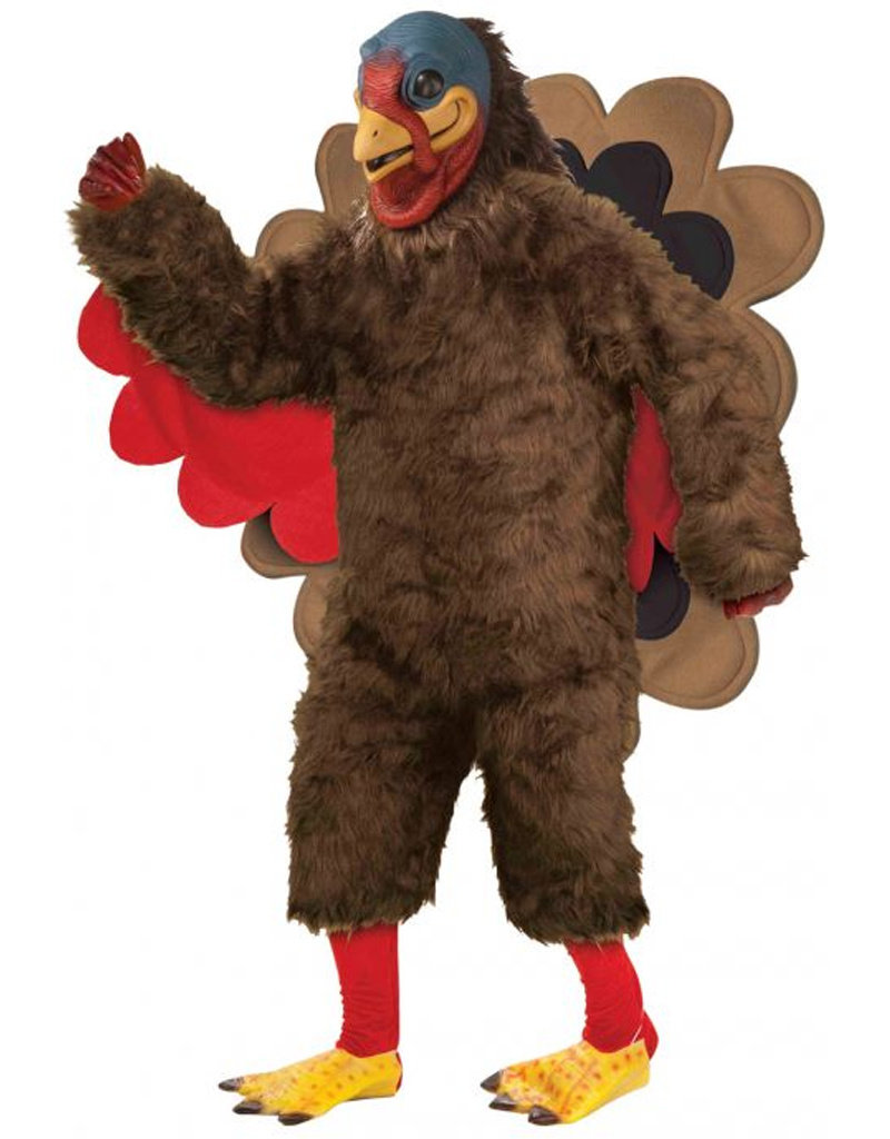 Plush Turkey Deluxe Costume - Men's