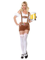 Little Miss Lederhosen Costume - Women's